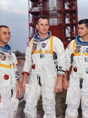 Apollo 1 astronauts, from left, Purdue graduate Virgil