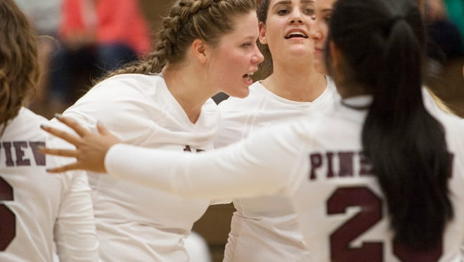 Pine View volleyball takes on Enterprise High Tuesday, Aug. 22, 2017.