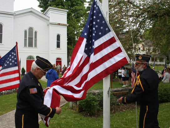 A scene from the Millerton Memorial Day ceremony on