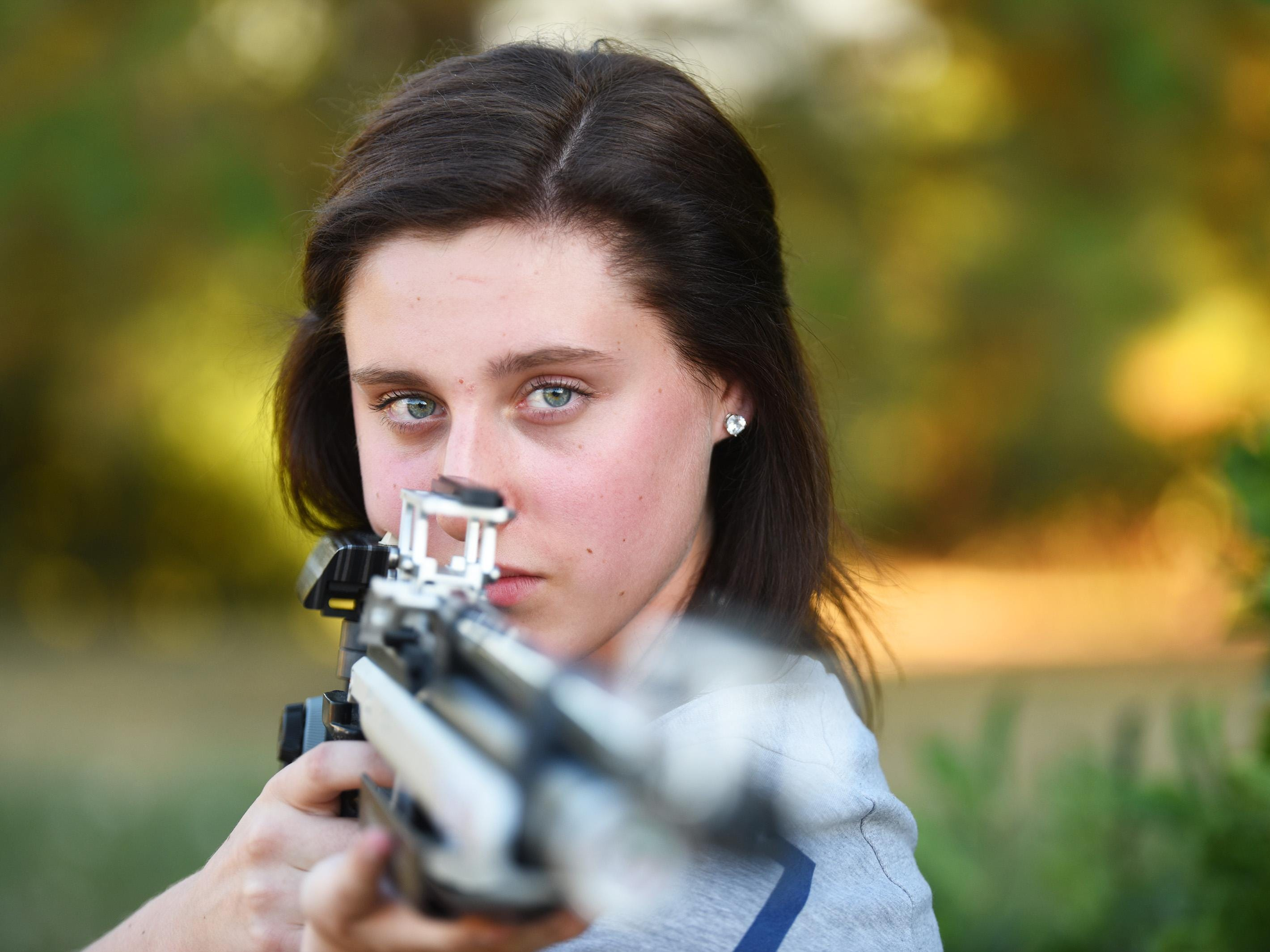 Emily Cock didn't beleve her father when he told her she had qualified for Team USA for the International Shooting Sport Federation's World Cup.