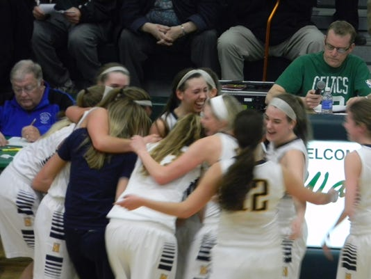 Haslett girls celebrate
