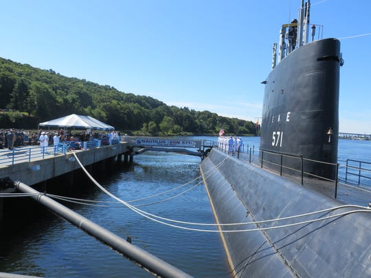 The Nautilus on exhibit at Submarine Force Museum and