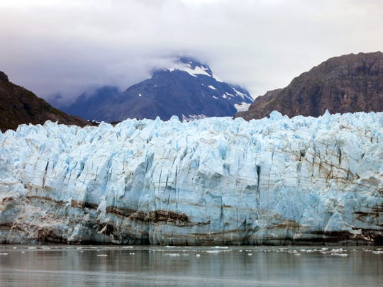 The Margerie Glacier, one of many glaciers that make