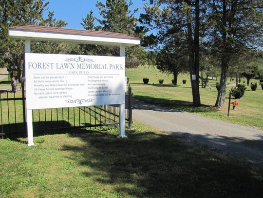 Forest Lawn Memorial Park is located off Jerusalem