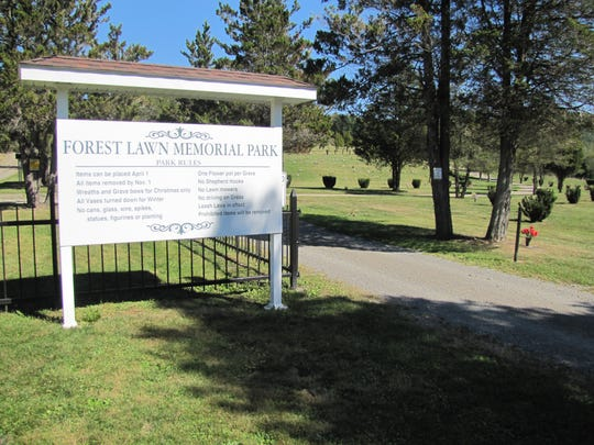 Forest Lawn Memorial Park is located off Jerusalem Hill Road in Elmira. The ashes of three members of Elmira's Halley family will be buried here and reunited with the family patriarch.