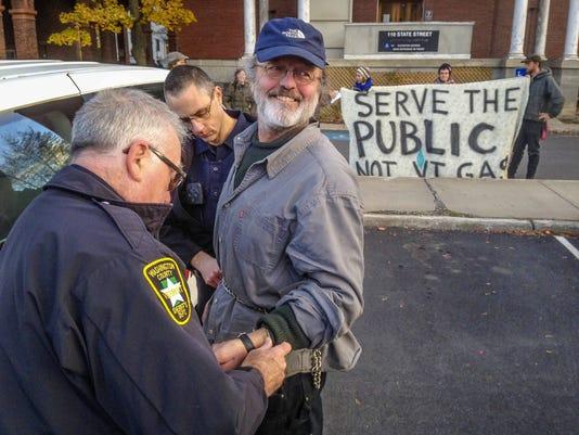 Rising Tide Vermont protester David Przepioski