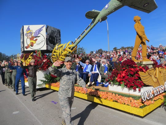 A float during the 2014 Rose Parade float saluted World