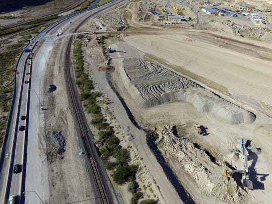The Border Highway West Extension project is creating major headaches for motorists as some lanes along Paisano (shown here) have been closed and other work around the project is ongoing. The yearlong construction is part of the work to complete Loop 375 and will all be tolled.