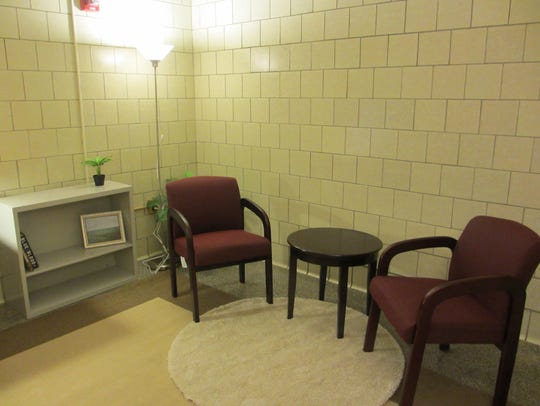 An experimental interrogation room used in research