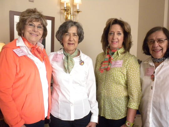 Carolyn Duke, left to right, Rosie Monniz, Lydia Williams and Alice Coleman.
