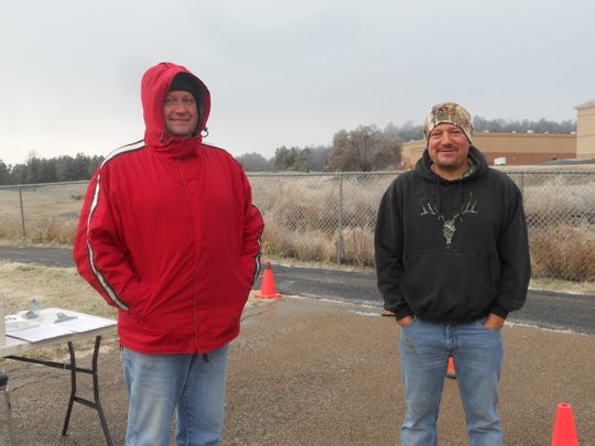 Ulrich Siebertz (Village Recreation Supervisor) and Rodney Griego (Parks & Recreation Director) braved the cold for the cause.