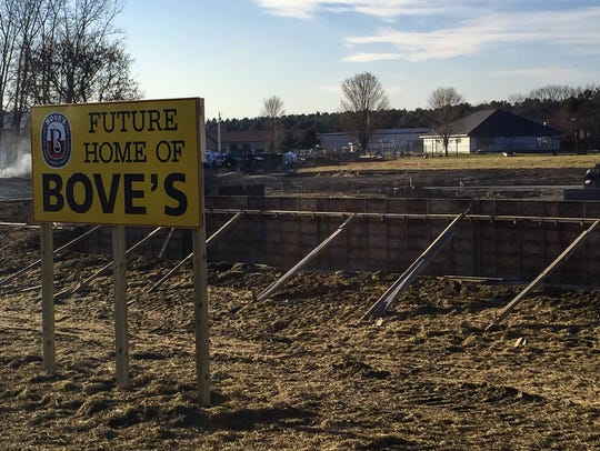 The site in Milton where the Bove family will build