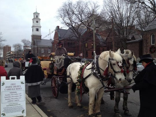 New Brunswick City Market will offer free horse-driven carriage rides all weekend in exchange for goods donated to the needy.