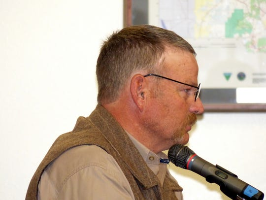 Lincoln County Sheriff Robert Shepperd reports to the