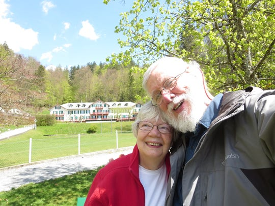 Karen and Dave Studebaker together touring the Swiss