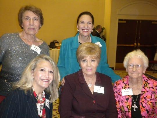 Sitting: Michelle McCown, Pat Parker and Dorothy Elder.