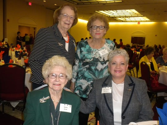 Sitting: Vona Klink and Laura Rodriguez. Standing: Marjorie Boswell and La Voyne Newman.