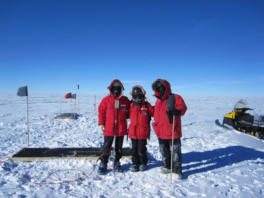 University of Delaware researchers at the South Pole
