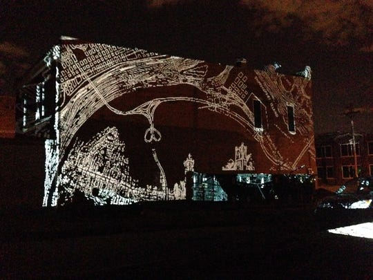 A projection by artists Tiffany Carbonneau and Susana Crum that will be shown from 8 to 10 p.m. Sunday and Thursday at 1619 Flux: Art + Activism as part of the B. KIND events.