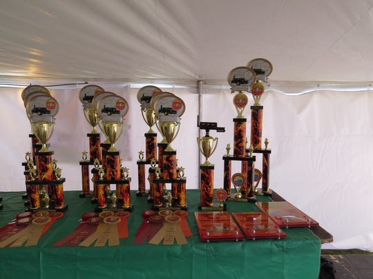 Trophies, medals and ribbons will be awarded for two