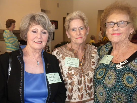 Melitta Pisarcik, from left, Suzie Matsler and LaVoyne