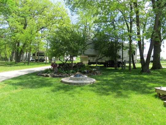 Camp sites at Breezy Hill Campground.