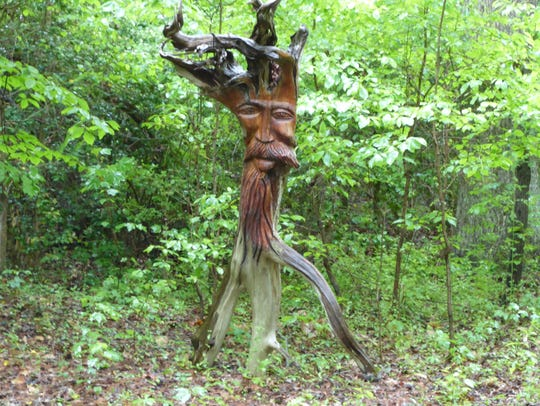 A sculpture in Annmarie Sculpture Garden.