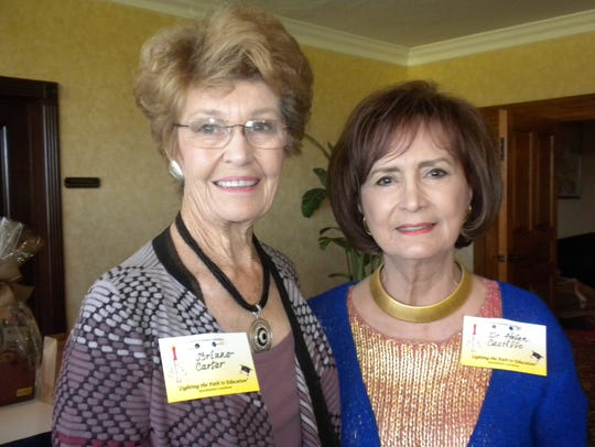 Brianne Carter, left, and Helen Castillo