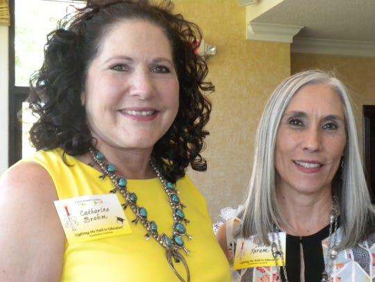 Catherine Brehm, left, and Nora Karm