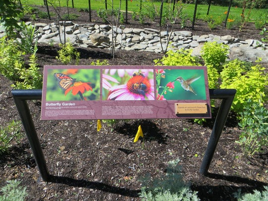 A butterfly garden is part of the new Humphrey Nature Center in Letchworth State Park.