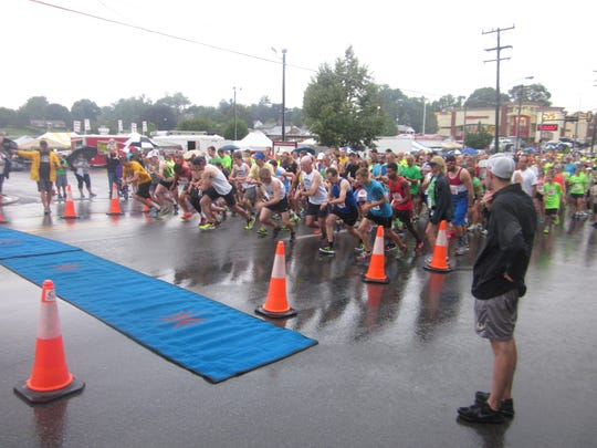 Runners hit the road at the annual Firecracker 5K.