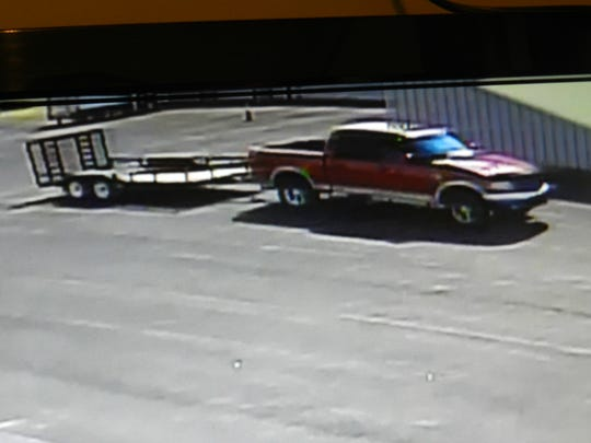 Pictured is the Ford truck reportedly used in the recent theft of a utility trailer in Waynesboro.