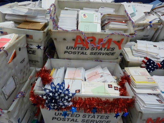 More than 100,000 letters to the military were collected