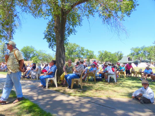 Cool breezes and huge shade trees created a relaxing scene for those listening to performers at Fort Stanton Live.