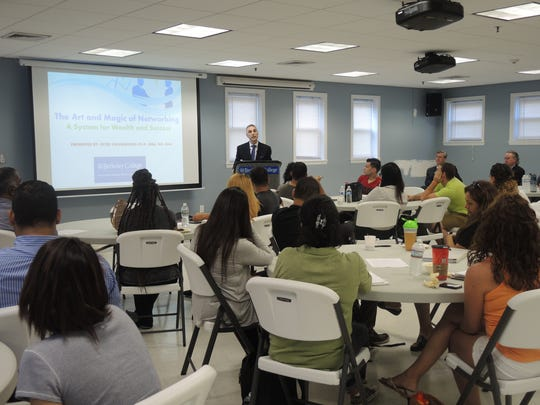 Berkeley College welcomed Peter Stavrianidis, PhD, a successful entrepreneur and fourth-generation family business owner of Venus Jewelers, to its Woodland Park campus as part of an ongoing MBA Executive Speaker Series on July 12.