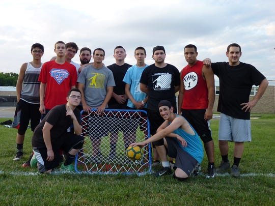 The Old Bridge tchoukball team, composed of current and former Old Bridge High School students.