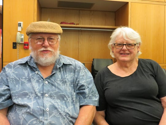 Husband and wife, Tom Hall and Jean Poland, of Ithaca, said they are learning about the features of the Loving Living at Home program.