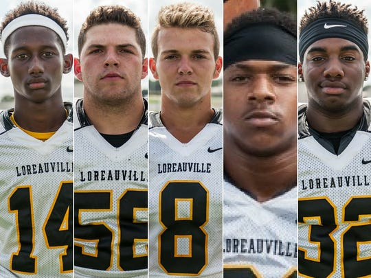 Loreauville High players to watch Zy Alexander, Kameron Broussard, Bryson Broussard, Shae Lee, and Trystan Pierre.