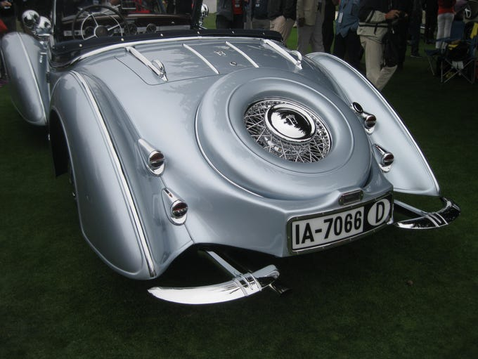 An exotic 1938 Horch 853 roadster with special Erdmann