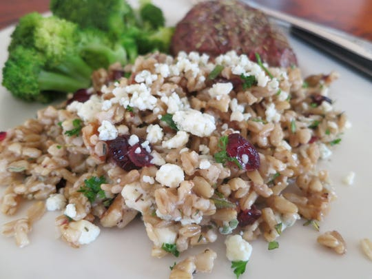 Healthful whole oat kernels are ideal for savory dinner
