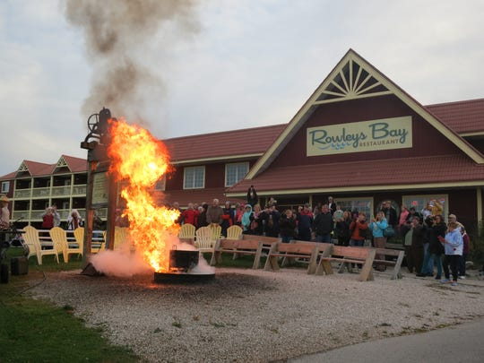 A fish boil at Rowley's Bay Restaurant in Door County, Wisconsin