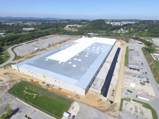This aerial photo shows the expanse of the new logistics