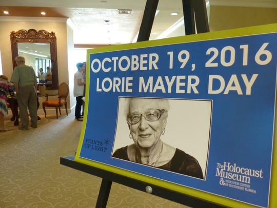"""Lorie Mayer was honored as a """"Daily Point of Light"""""""