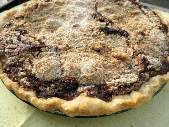 This recipe makes a wet-bottom shoofly pie.