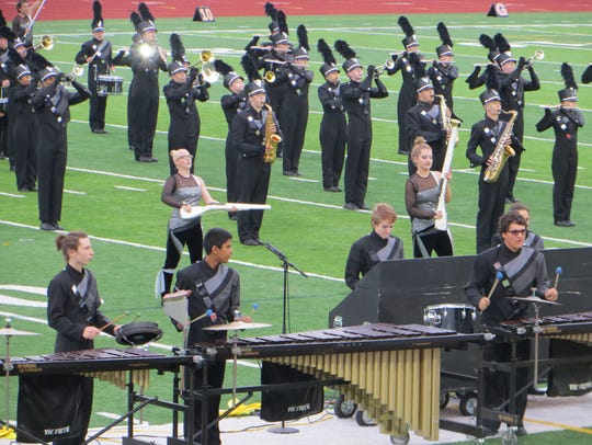 The South Lyon East High School marching band was the