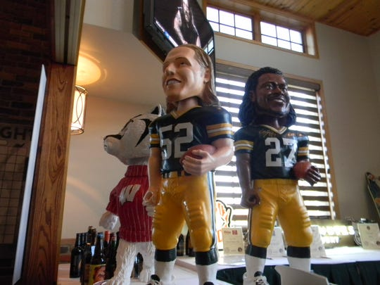 Bobbleheads were some of Saturday's items, which were