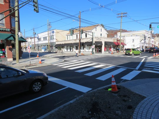 The reconfigured intersection of Millburn Avenue and Main Street in Millburn