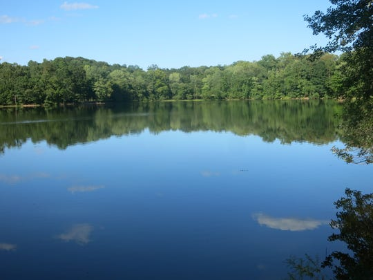 View of Scarlet Oak Pond from Vista Loop Trail at Ramapo Reservation.