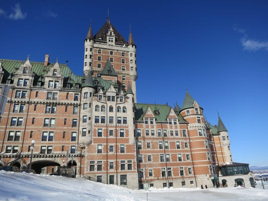 Le Fairmont Chateau Frontenac in Quebec City, Canada, is said to be the most photographed hotel in the world.
