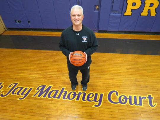 Bogota's gym court is named after legendary coach Jay Mahoney, who has led the boys' hoops team for the past 41 seasons.